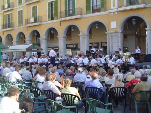 concierto en la Plaza Mayor