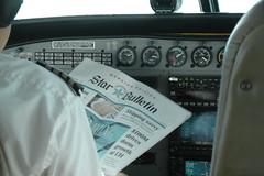 In-flight reading