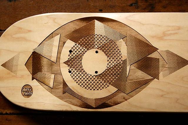 lasered deck