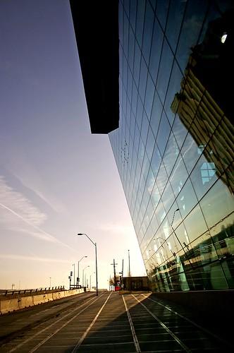 urban reflection glass sunrise print downtown kansascity missouri facility thekansascitystar