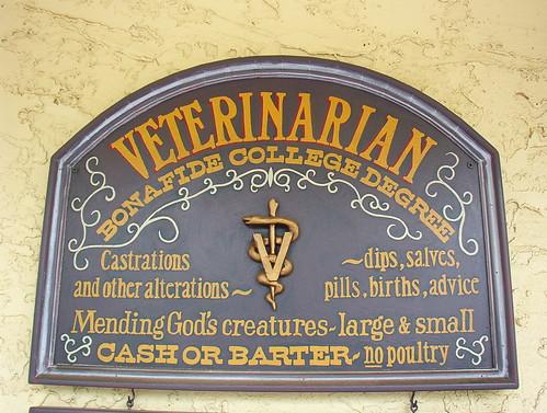 Veterinarian sign | by Average Jane