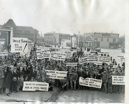 Substitute postal workers rally for higher wages: 1934 | by Washington Area Spark