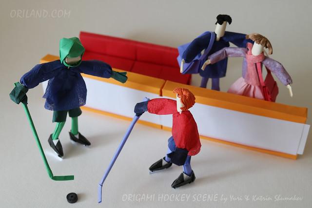Origami Hockey Scene by Yuri & Katrin Shumakov