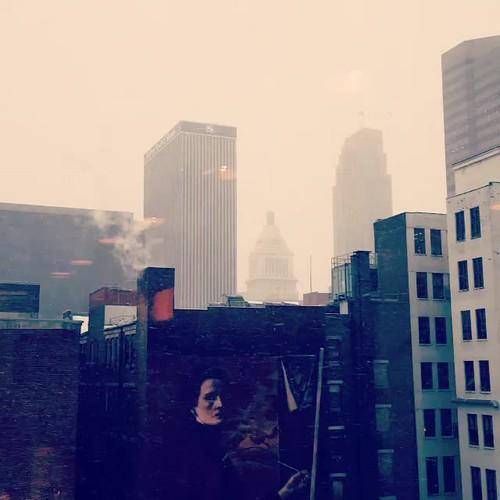 A snowy morning in downtown Cincinnati.