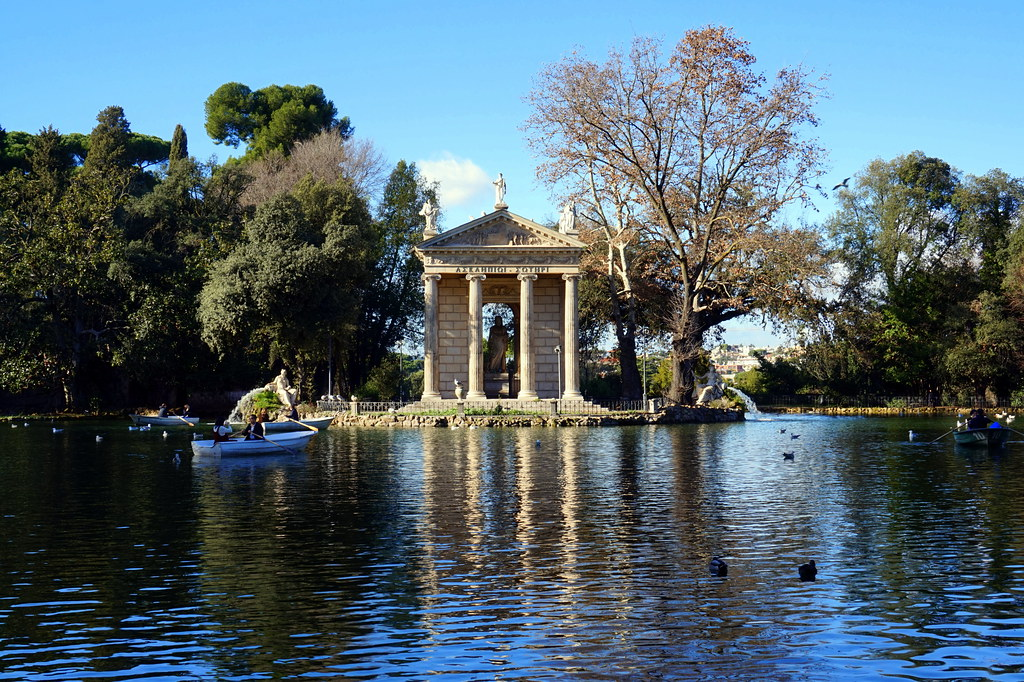 Temple of Asclepius in Villa Borghese Gardens, Rome