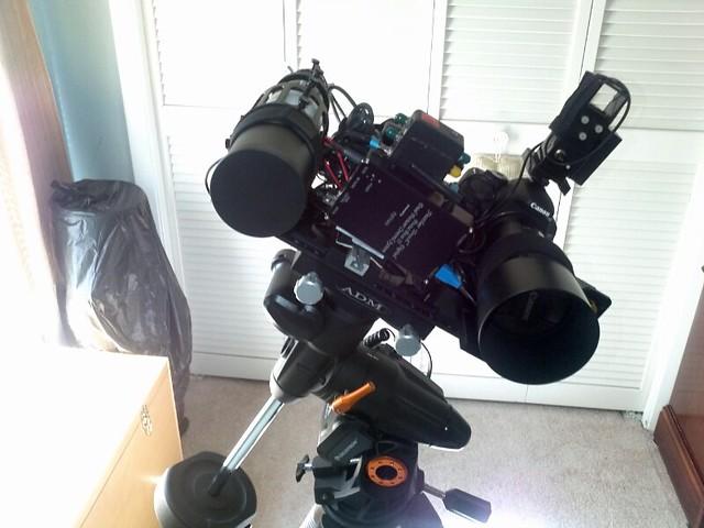 Side by side DSLR setup 1
