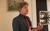 Der Karlsruher Oberbürgermeister Frank Mentrup spricht in seiner Ansprache auch über Billed, das er schon 2 mal besucht hatte.