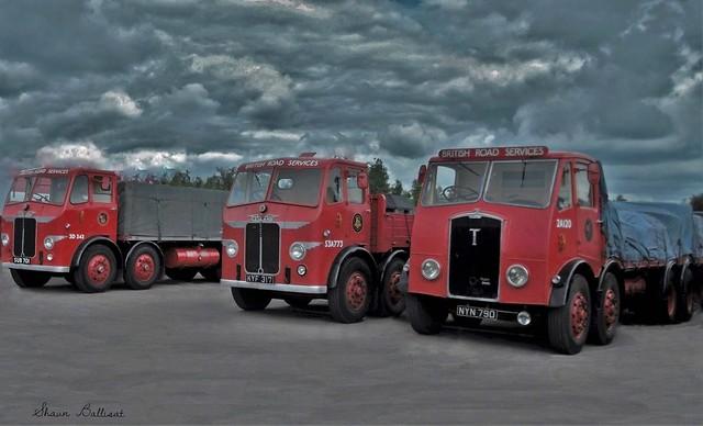 Trio of classic BRS lorries