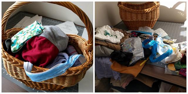 Sewing Basket collage