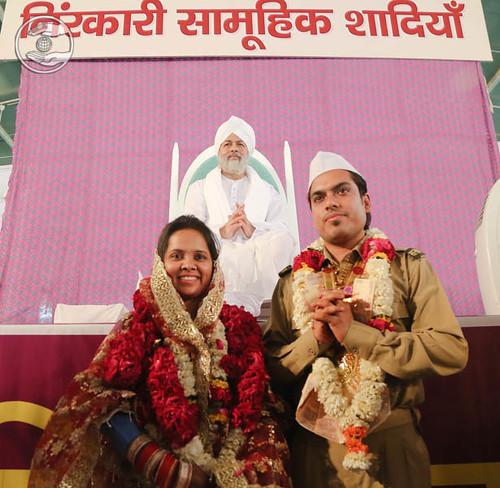 Couple seeking blessings