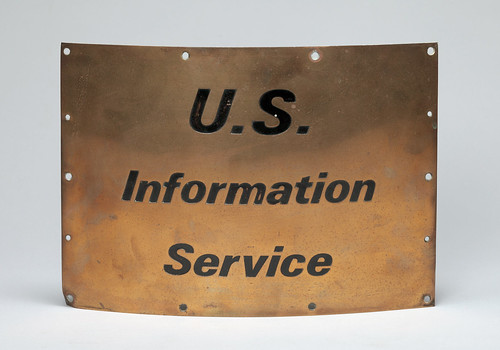 U.S. Information Service sign, former USIS Jakarta library