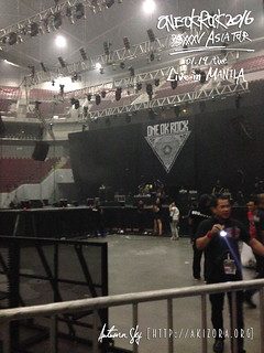 Stage setup for ONE OK ROCK Live in Manila | by hikarime1