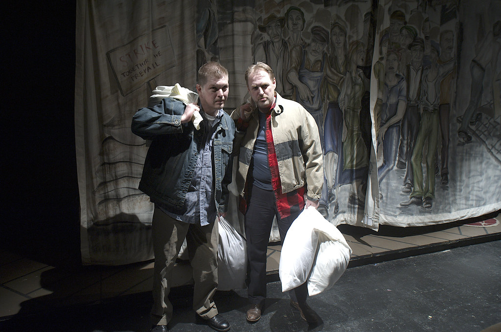 "<p>Darren Marquardt as Giovanni, Mitch Irzinski as Luigi, in ""They Don't Pay? We Won't Pay!"" BY Dario Fo</p>"