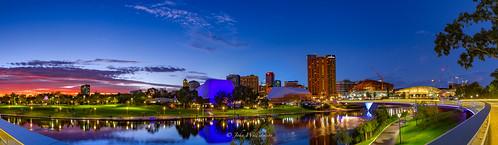 panorama skyline reflections australia adelaide southaustralia torrensriver
