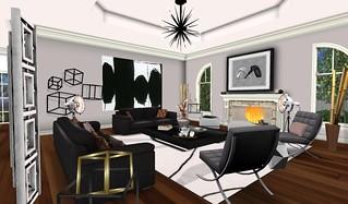 Swank Feb 2016-Cosmo LR w:Art   by Hidden Gems in Second Life (Interior Designer)