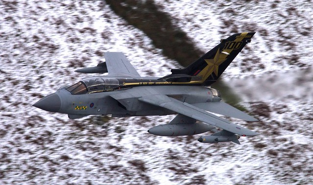Marham 71 Special Tail (Gold Star) Tornado low pass Mach Loop January 2016