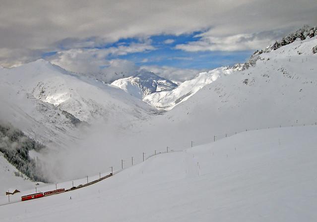Nätschen Oberalp bahnlinie nach Andermatt