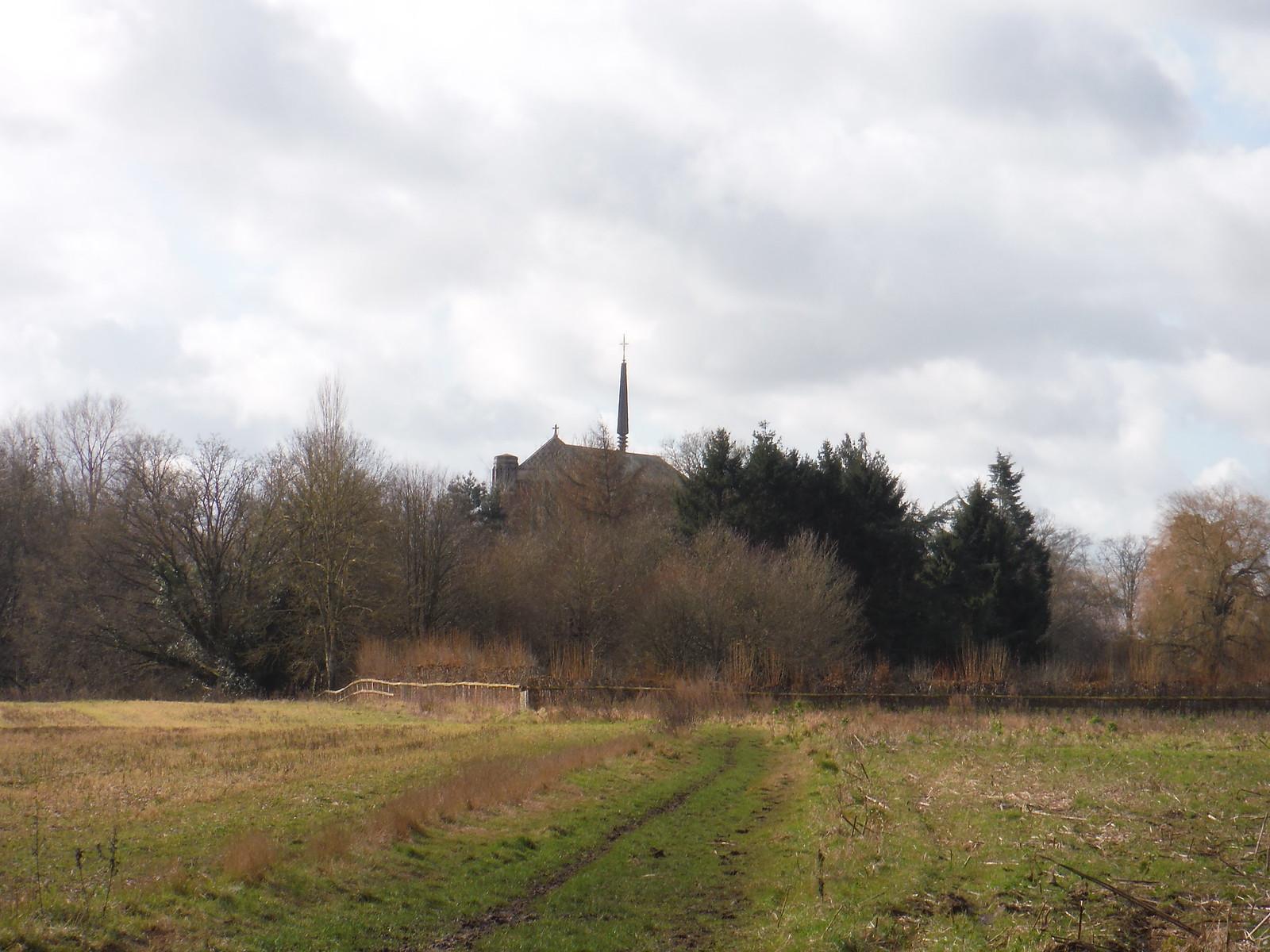 Douai Abbey from afar SWC Walk 117 Aldermaston to Woolhampton (via Stanford Dingley)
