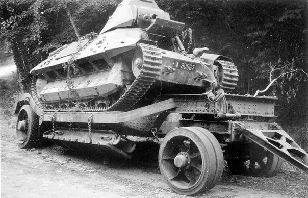 Abandoned French tank FCM 36,