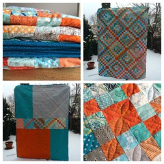 Finished my Scrappy Trip Quilt
