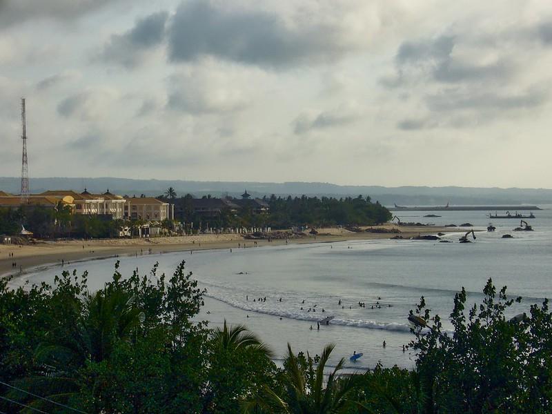 View over Kuta beach and bay on Bali, Indonesia