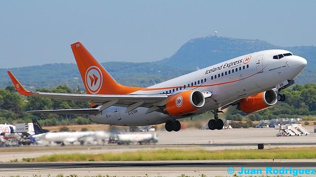 G-STRN - Iceland Express (Astraeus) Boeing 737-7L9 - PMI/LEPA