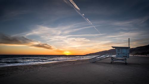 california travel sunset sea sky orange usa sun seascape beach water station clouds landscape geotagged photography bay us photo losangeles waves fuji unitedstates blu watch guard malibu fujifilm onsale ultrawide fujix rokinon xt10 fujixt10