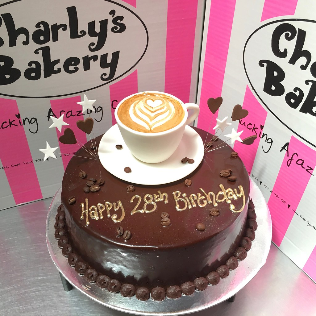 Fabulous Coffee Themed Birthday Cake With 3D Cuppucino In Cup And S Flickr Funny Birthday Cards Online Elaedamsfinfo