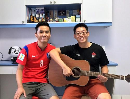 Private guitar lessons Singapore Wenkai