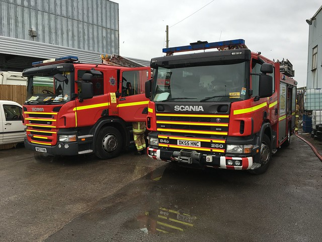 Side by side Scanias