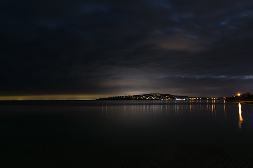 ocean longexposure sea night clouds landscape bay nikon australia melbourne victoria dromana mountmartha mtmartha