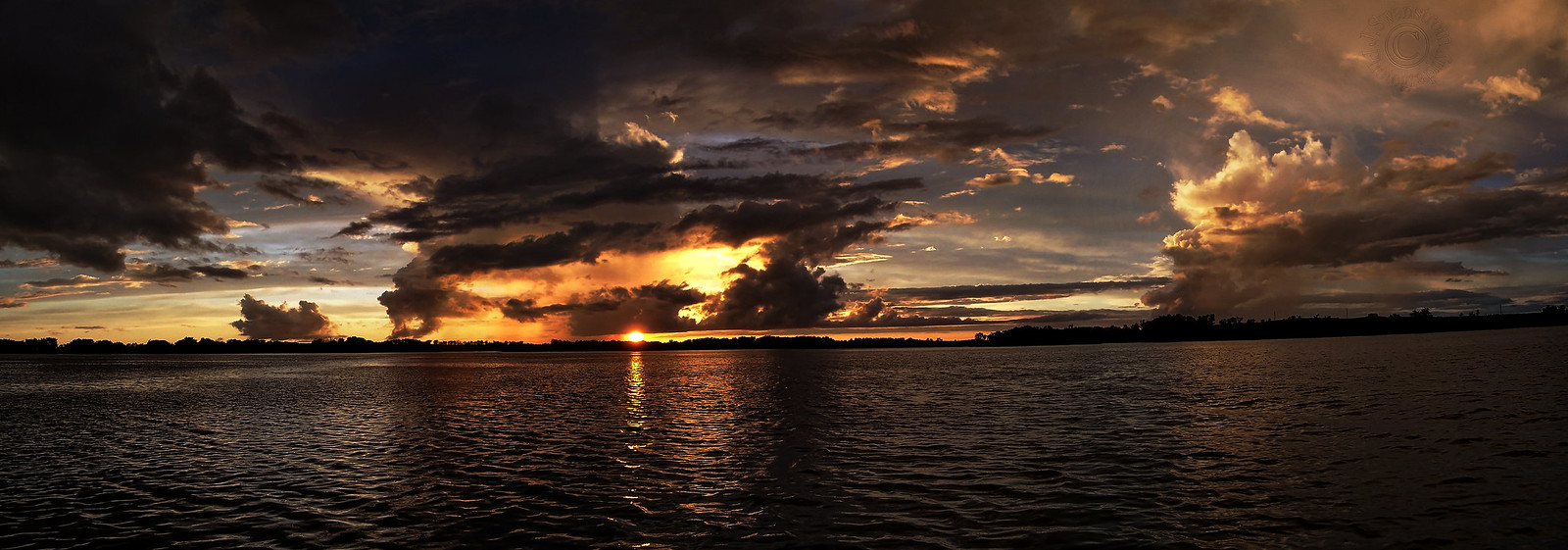 Fantastic Skies Over Pickerel Lake (4 Shot Pano)