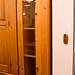 Tall slim pine dresser display unit