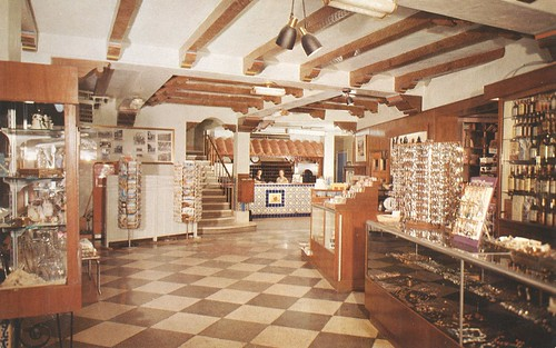 vintage texas postcard motel lobby elpaso masterhost