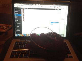 348/365 Knitting & Wordpress | by Anetq