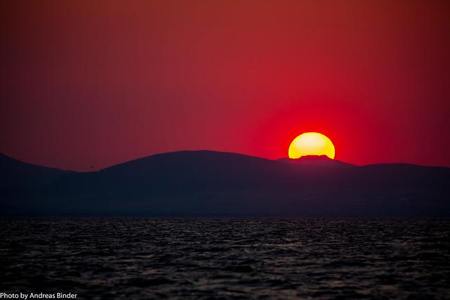 Sonnenuntergang im Golf von Volos