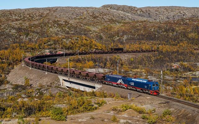 LKAB iron ore train in Norddalen
