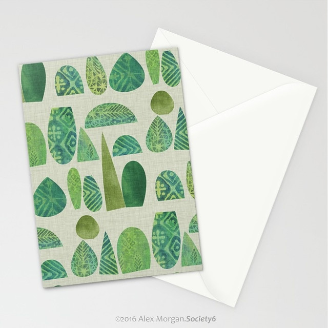 Watercolour Topiary.greeting cards