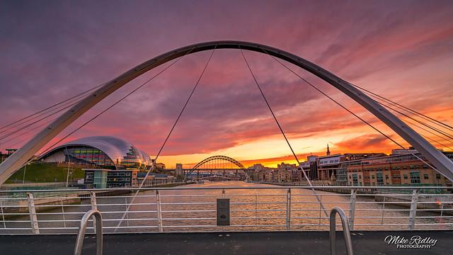 Bridges at sundown ...
