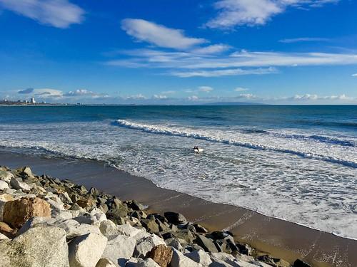 ocean california sky sun beach clouds landscape coast losangeles rocks surf santamonica surfer sunny bluesky surfboard westcoast pacificpalisades waterscape iphone gladstones