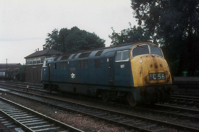 Warship Class 43 857 At Worcester Shrub Hill