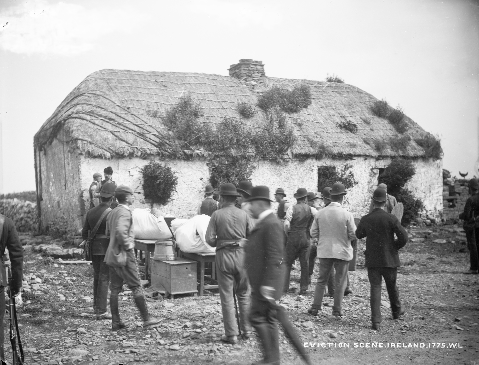 Eviction scene at the house of John Connell, Moyasta, Co.Clare