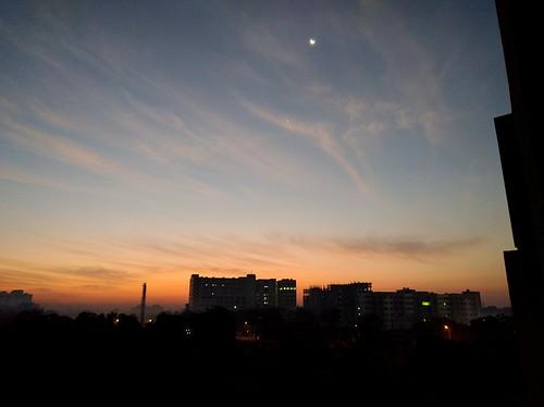 morning sunrise citylife