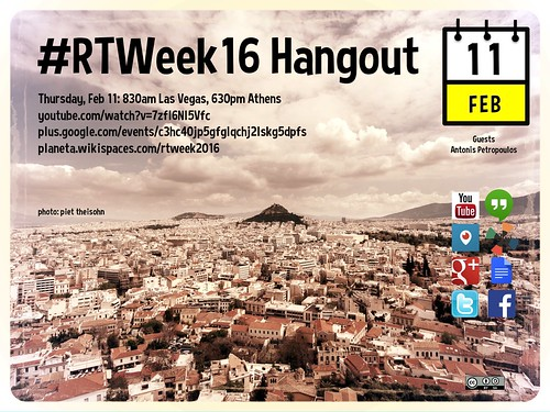 #RTWeek16 Thursday Hangout with Antonis Petropoulos @ecoclub