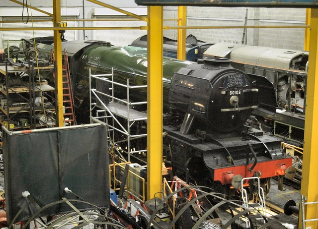 60103 'Flying Scotsman' being repainted