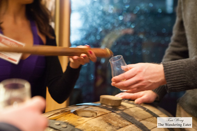 Serving the Crown Royal Hand Selected Barrel from a barrel
