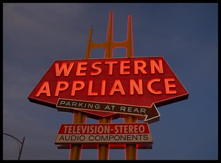 Giant Western Appliance Sign