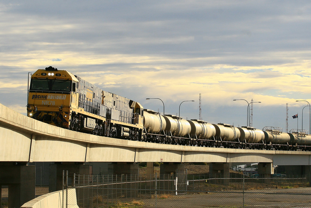1116S NR78 & NR81 Port River Bridge by Trackside Photography Australia