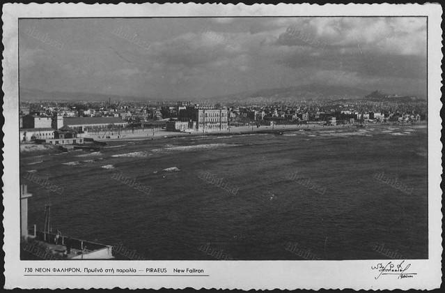 Η παραλία του Νέου Φαλήρου, καρτ ποστάλ εκδόσεων Νίκου Στουρνάρα.