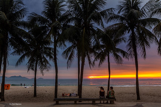 Sunrise over Copacabana Beach, two locals and a homeless person | by Phil Marion (176 million views - THANKS)